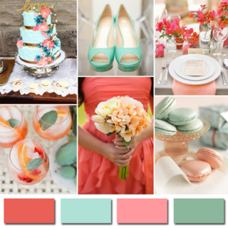 Coral-and-mint-green-2014-wedding-color-trends-ideas