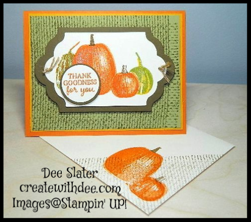 Gourd Goodness Stampin' UP!