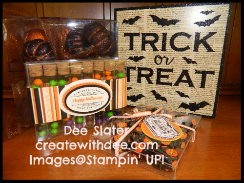 Acetate Card Boxes, Halloween Treat Containers, Stampin' UP!